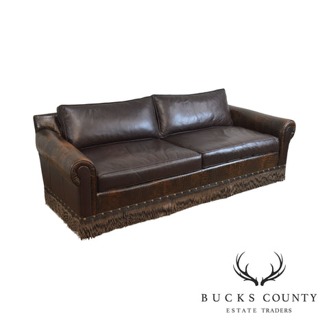 Old Hickory Tannery Brown Leather Sofa