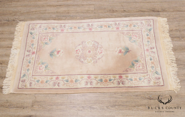 Vintage Chinese Wool Throw Rug