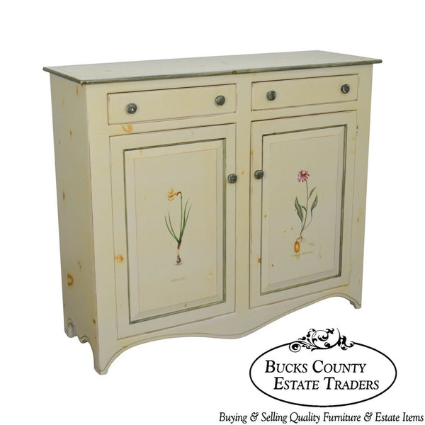 American Heritage Hand Painted Country Style Cupboard or Cabinet