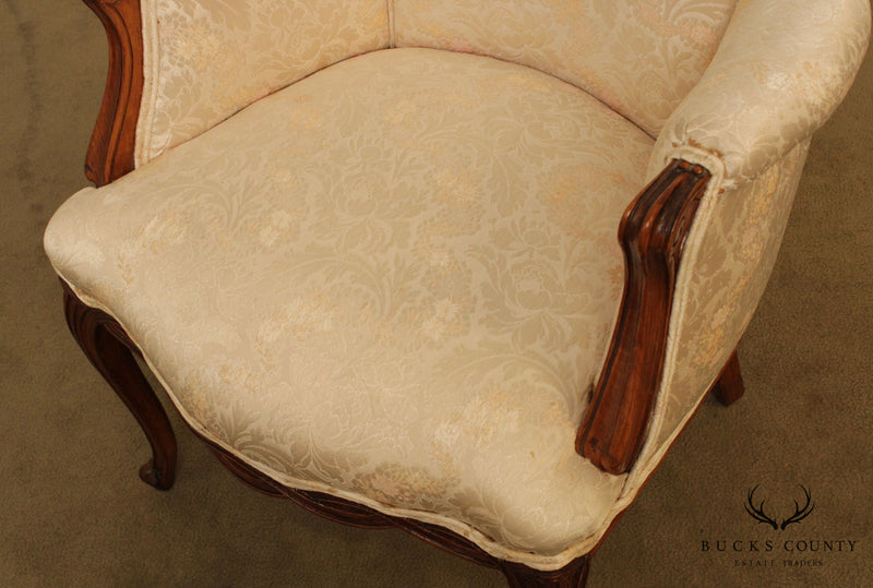 Vintage French Louis XV Style Pair Host Armchairs