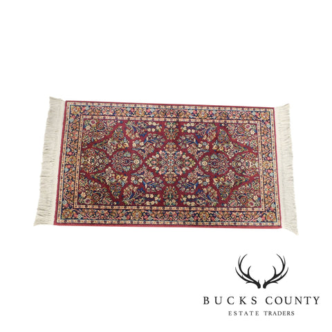 Karastan Red Sarouk #785 Carpet 5' x 2' Multicolor Area Throw Rug