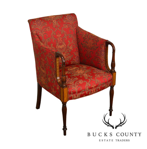 Southwood Sheraton Style Mahogany inlaid Club Chair