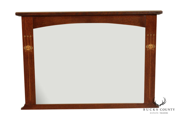 Stickley Mission Collection Oak Harvey Ellis Inlaid Mirror