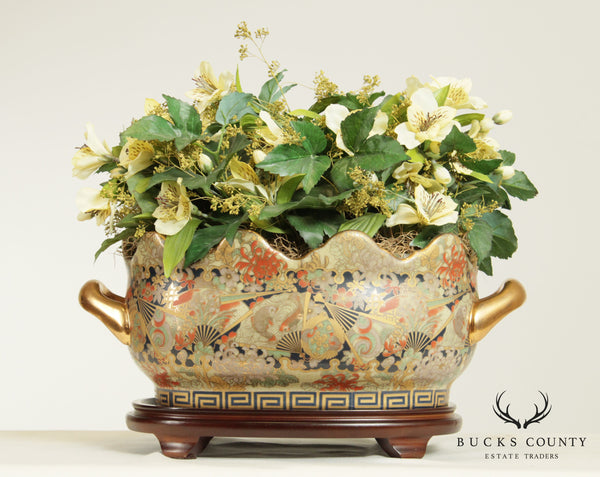 Decorative Chinese Porcelain Planter, Vase on Stand