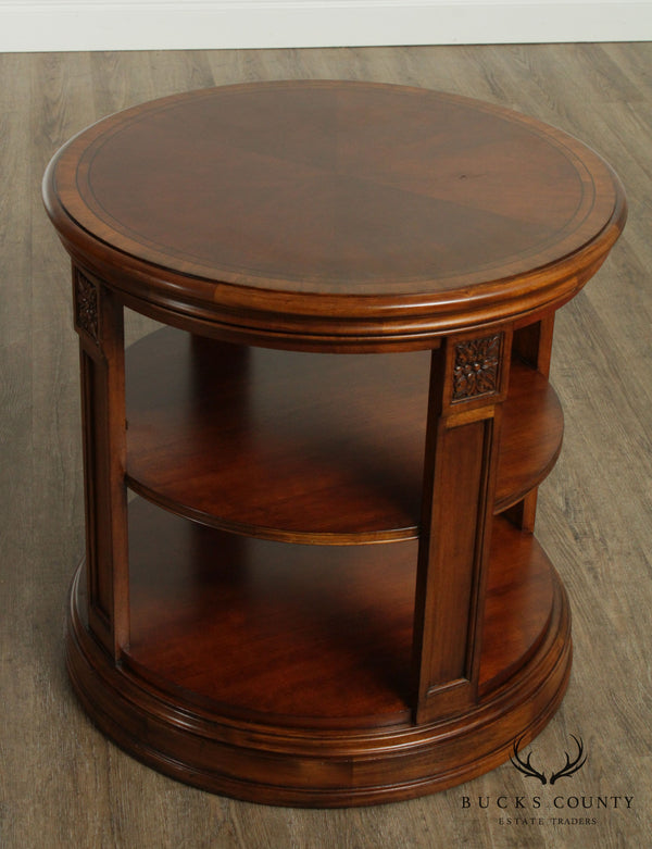 Ethan Allen Townhouse Collection Round 'Seaver' Library Table