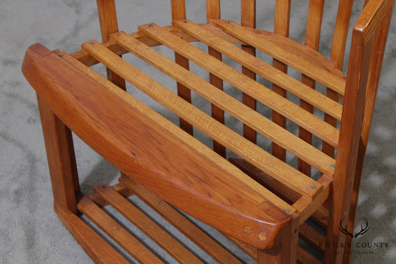 Vintage Curved Back Yachting Deck Chair