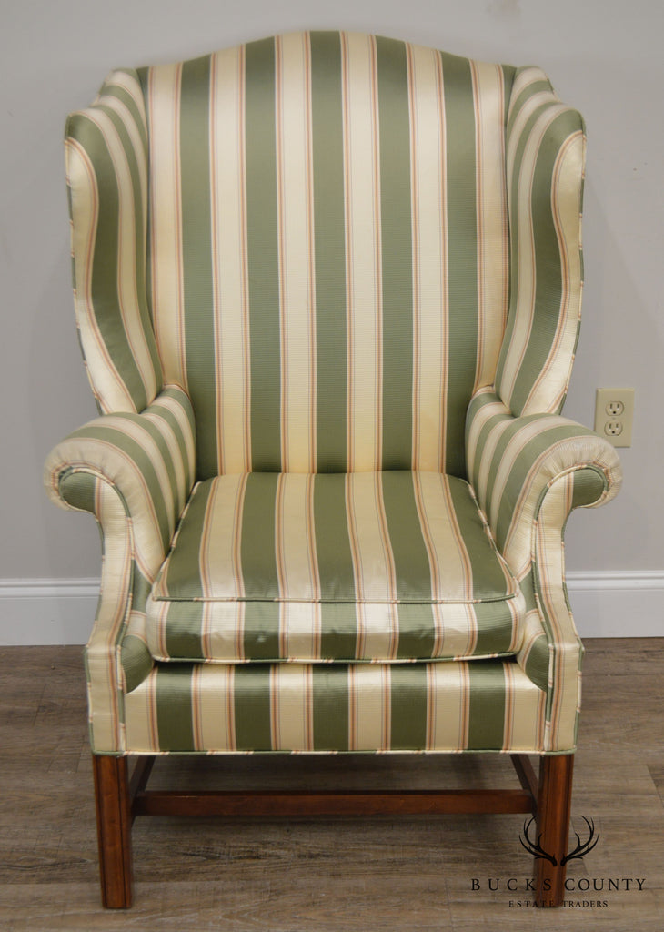 Wondrous Baker Vintage Chippendale Style Wing Chair Bucks County Theyellowbook Wood Chair Design Ideas Theyellowbookinfo