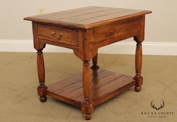 Ethan Allen Old World Treasures Collection One Drawer Side Table