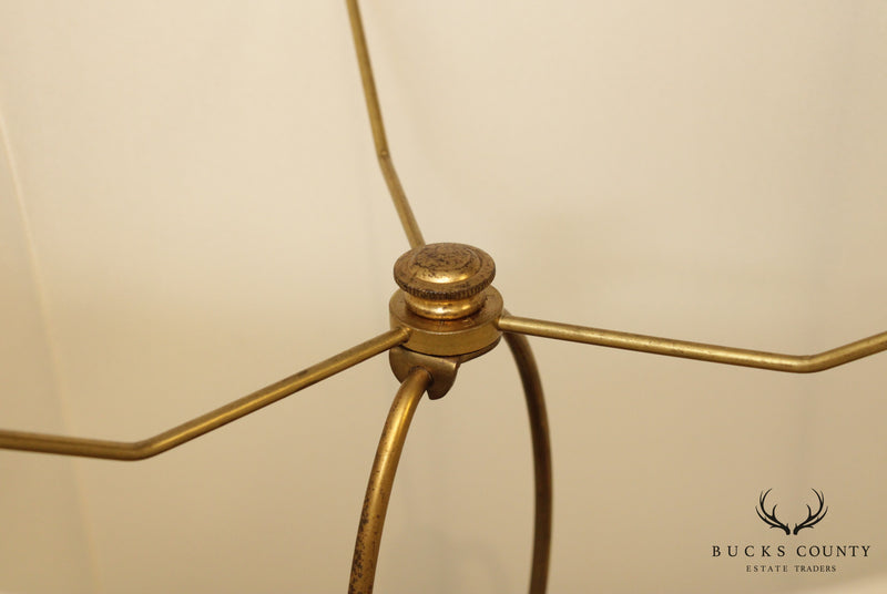 Stiffel Vintage Brass Floor Lamp Table