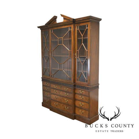 Kittinger Colonial Williamsburg CW 158 Large Mahogany Breakfront Bookcase