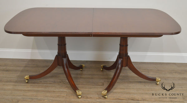 Stickley Solid Mahogany Duncan Phyfe Style Dining Table with 2 Leaves