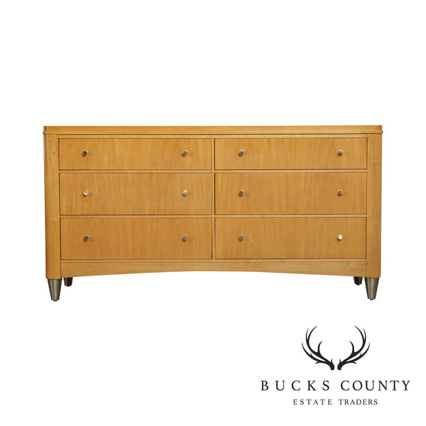 "Ethan Allen ""Radius"" Collection Maple 6 Drawer Dresser"
