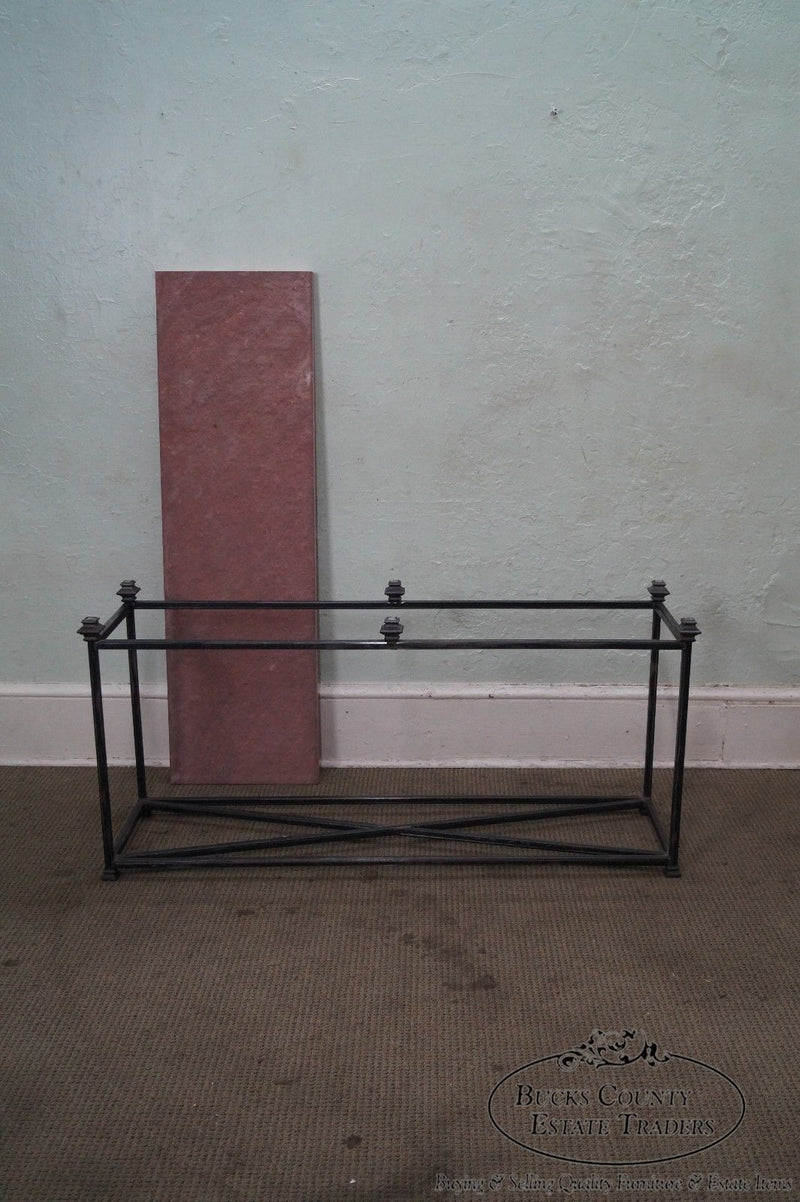 Quality Iron Base Console Table w/ Slate Top