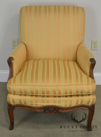 French Louis XV Style Vintage 1940's Bergere Club Chair