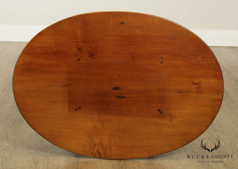 Antique Pine Oval Tavern Side Table