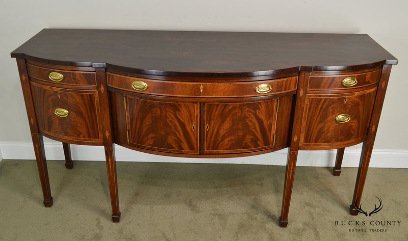 Kindel Flame Mahogany Inlaid Federal Style Chesterwood Sideboard