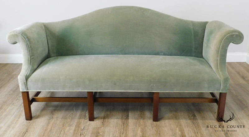 Kittinger Colonial Williamsburg Chippendale Style Mahogany Camelback Sofa
