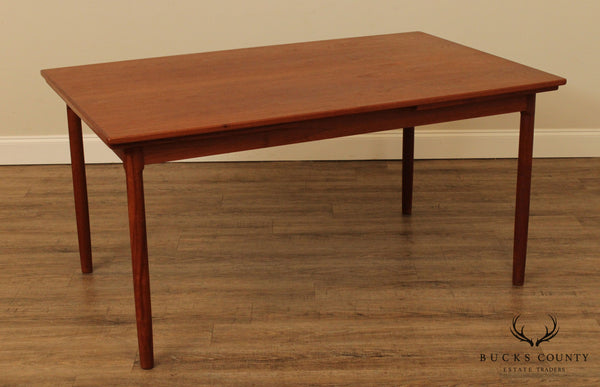 Danish Modern Vintage 1960's Teak Refectory Dining Table