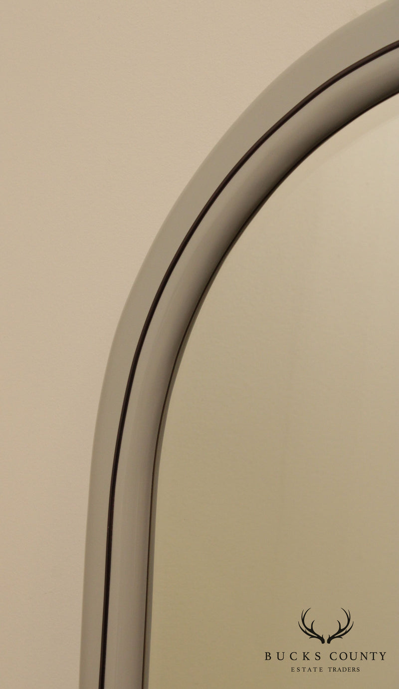 Lane Postmodern Grey Lacquered Frame Mirror, 1980's
