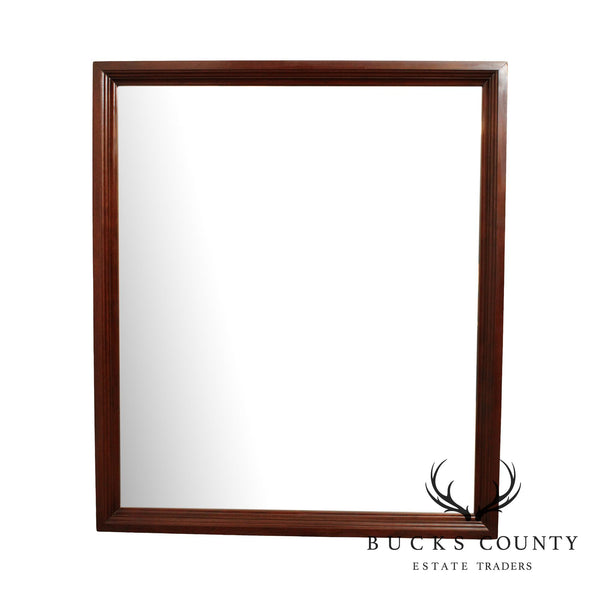Traditional Mahogany Frame Beveled Wall Mirror
