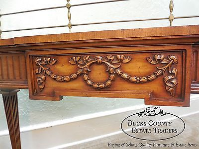 Karges French Style 3 Part Walnut Sideboard w/ Pair of Cabinet Ends