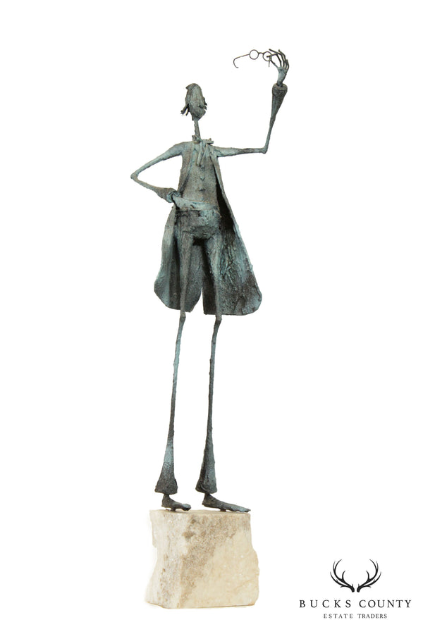 Mid Century Modern Abstract Sculpture of Man After Giacometti