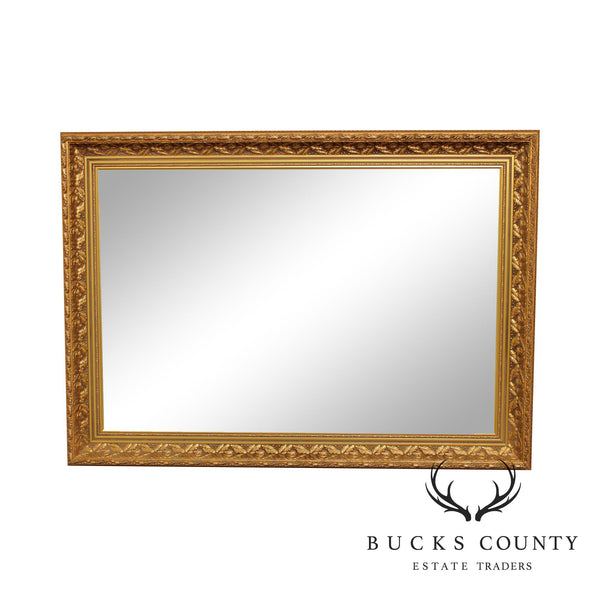 Quality Gold Gilt Frame Leaf & Berry Carved Rectangular Beveled Mirror