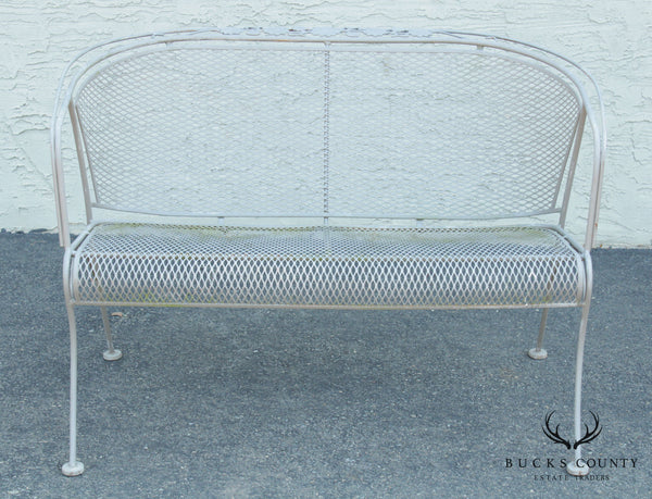 Woodard Vintage Wrought Iron Patio or Garden Settee