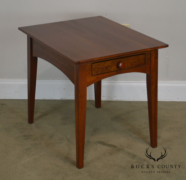 Ethan Allen American Impression Solid Cherry One Drawer Side Table