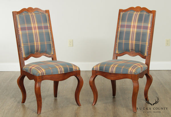 Century French Country Style Pair Side Chairs