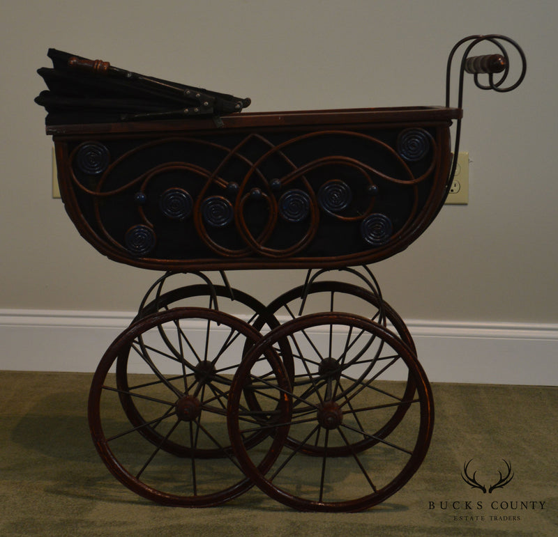 Victorian Style Doll Baby Carriage