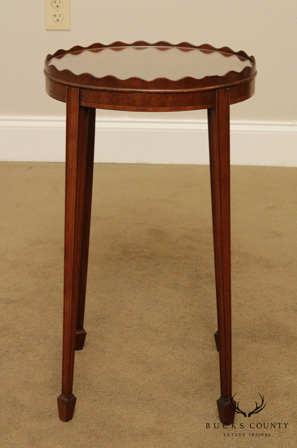 Frederick Tibbenham Limited Federal Style Mahogany Oval Side Table