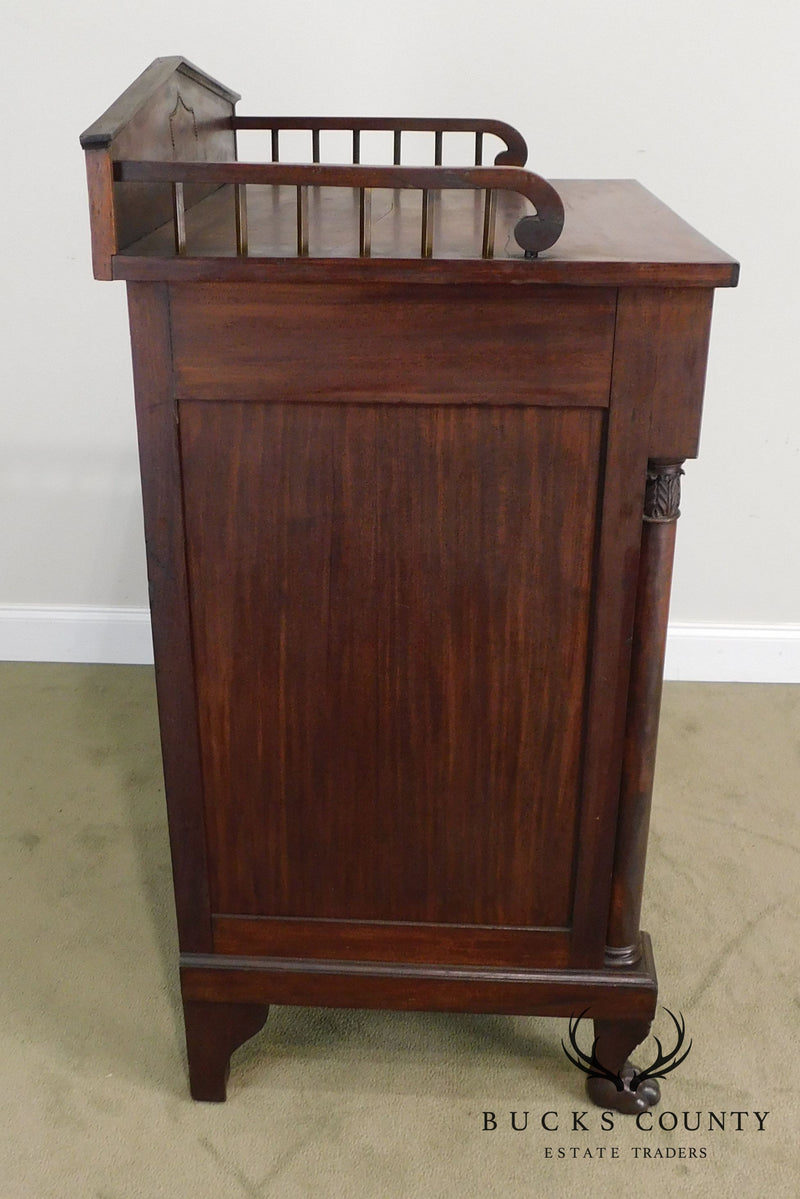 Antique 19th Century Classical Mahogany Mint Julip Cabinet