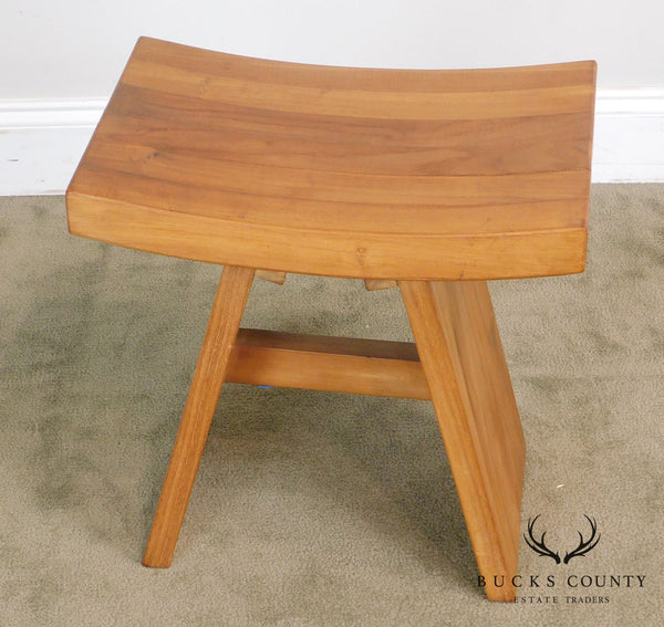 Vintage Teak Wood Saddle Stool