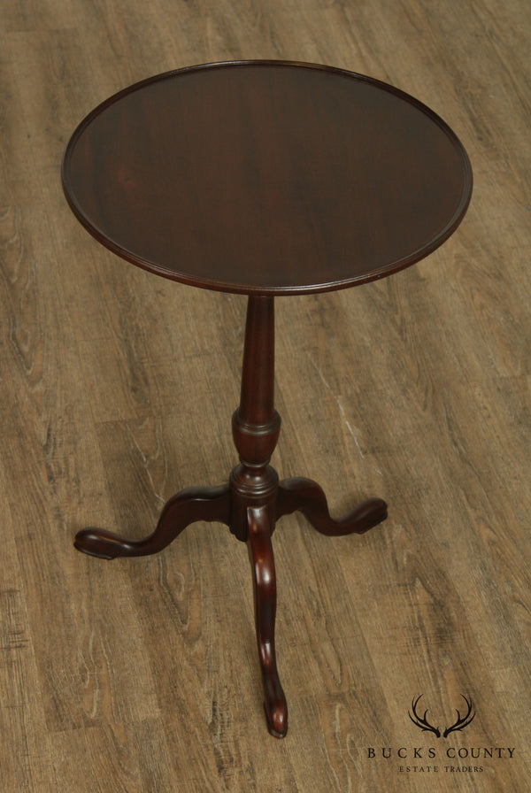 Custom Quality Solid Mahogany Round Queen Anne Tilt Top Tea Table