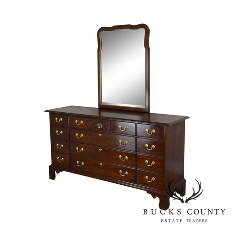 Statton Solid Cherry Long Dresser with Mirror