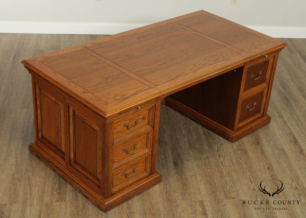 Alex Stuart Design Quality Oak Executive Desk