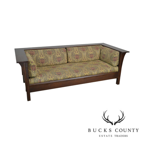 Stickley Mission Collection Oak Prairie Sofa Settle