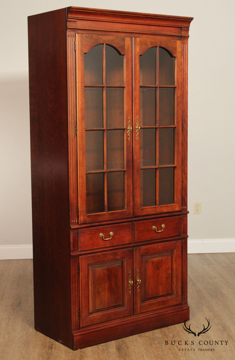 Pennsylvania House Traditional Cherry Bookcase Curio Display Cabinet