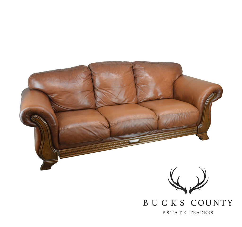 Divani E Divani O Chateau D Ax.Divani Chateau D Ax Italian Brown Leather Sofa Bucks County
