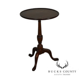 "Henkel Harris Traditional Mahogany 20"" Round Pedestal Side Table"