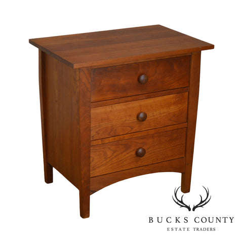 Stickley Mission Harvey Ellis Collection Solid Cherry Three Drawer Nightstand Chest