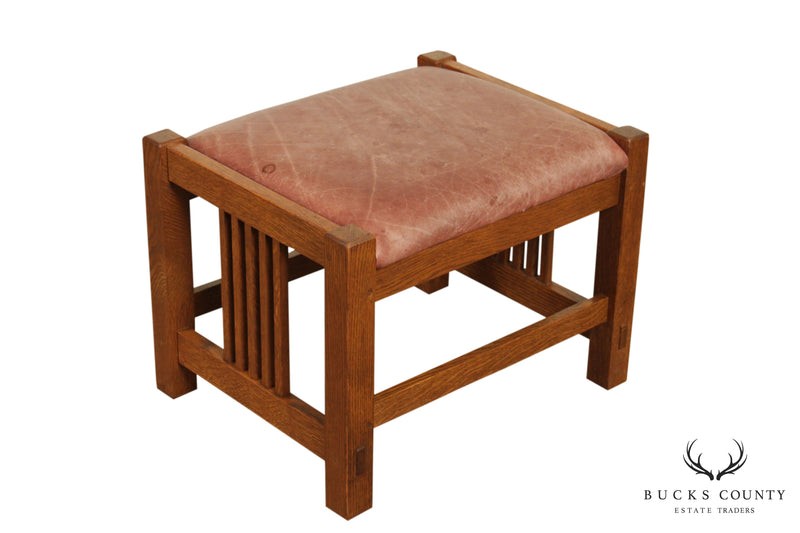 Stickley Mission Collection Oak Spindle Footstool