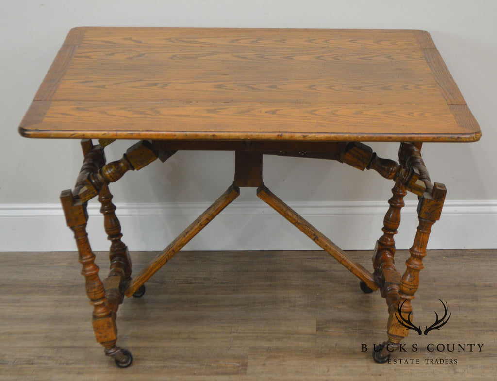 Stupendous Baker Vintage Jacobean Style Oak Dropleaf High Low Gmtry Best Dining Table And Chair Ideas Images Gmtryco