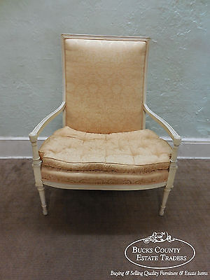 Custom French Regency Directoire Style Painted Wide Seat Fauteuil Loveseat