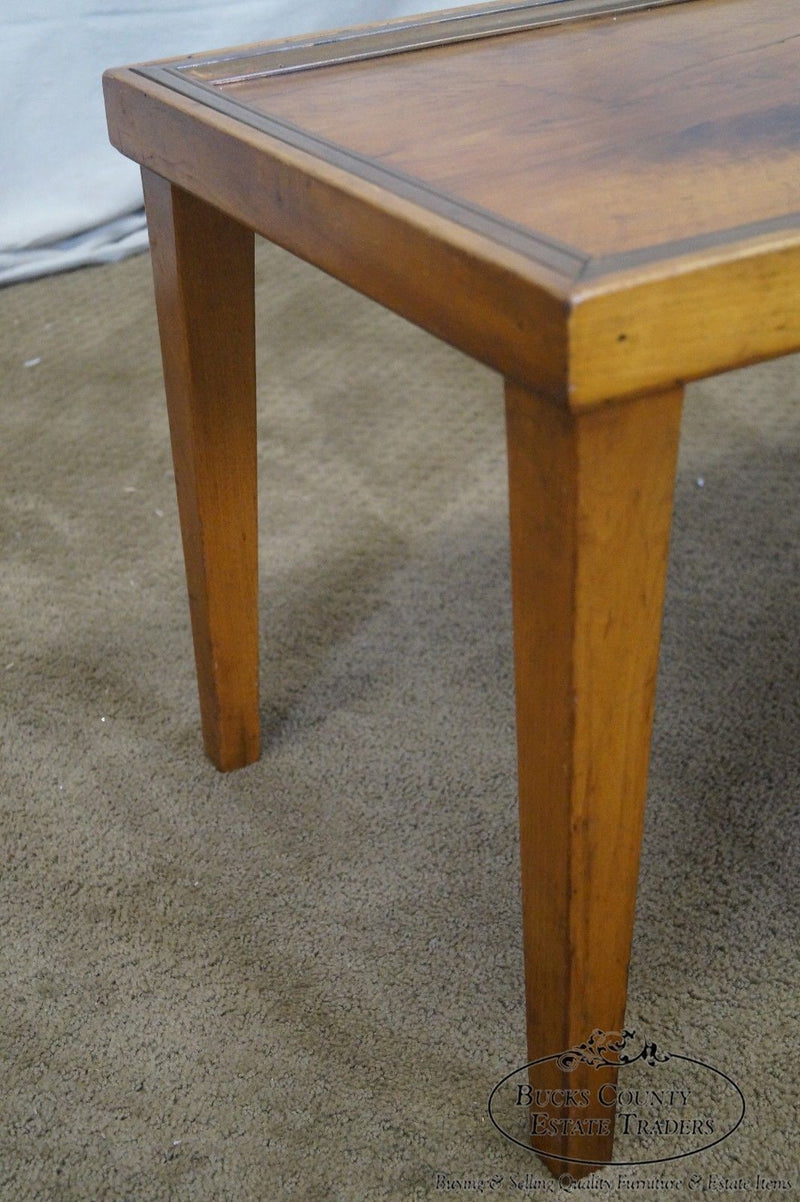 Antique Crotch Mahogany Campaign Style Coffee Table