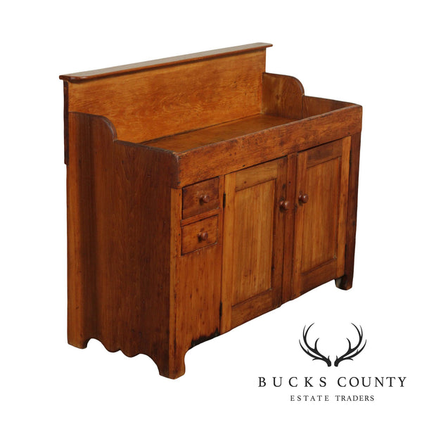 Antique 19th Century Country Poplar Dry Sink