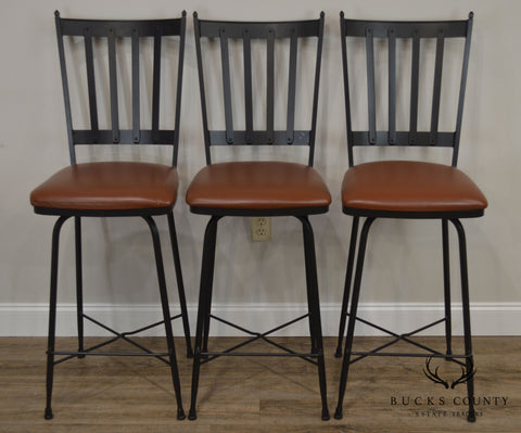 Prime Charleston Forge Circa 1905 Set 3 Iron Swivel Bar Stools Caraccident5 Cool Chair Designs And Ideas Caraccident5Info