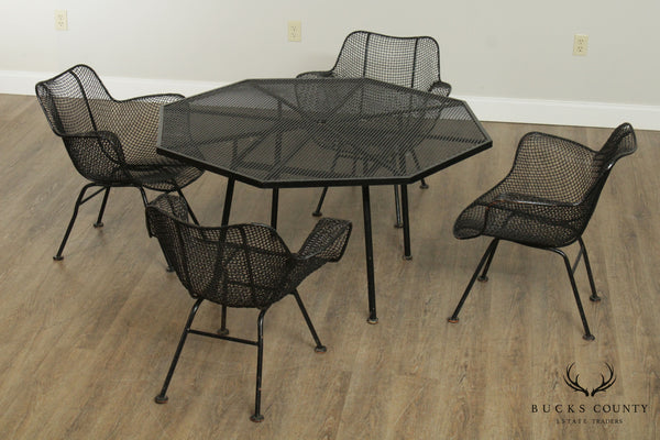Russell Woodard 'Sculptura' Mid Century 5 Piece Patio Dining Set