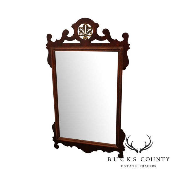 American Drew Mahogany Chippendale Style Wall Mirror